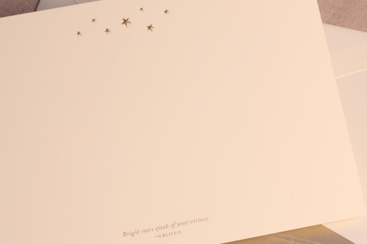 engraved stars card