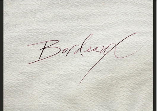 laura di piazza calligraphy bordeaux