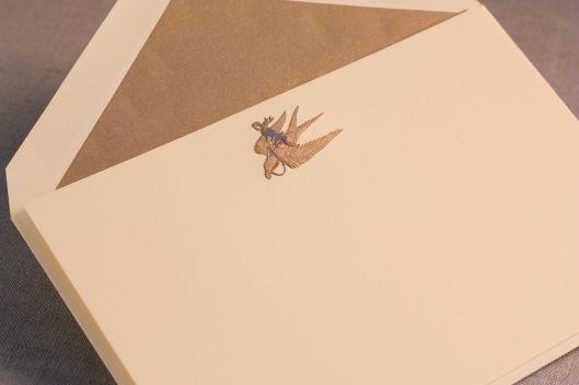 engraved avian adventurer card