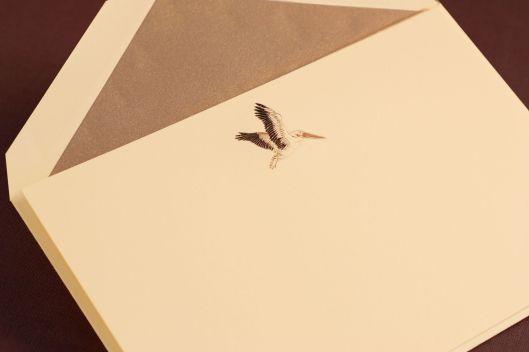engraved pelican card
