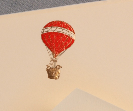 engraved hot air balloon