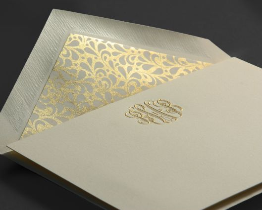 engraved monogram personalized stationery