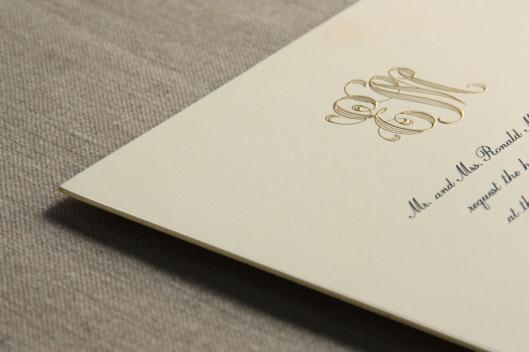Alexandria Invitation monogram