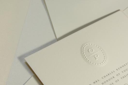 Lily suite monogram detail