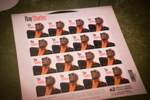 pub letters ray charles stamps