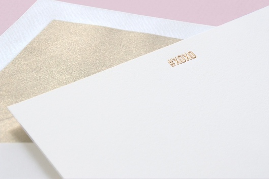 Engraved #XOXO Correspondence Card